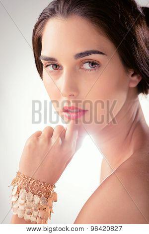 Woman With Golden Bracelet