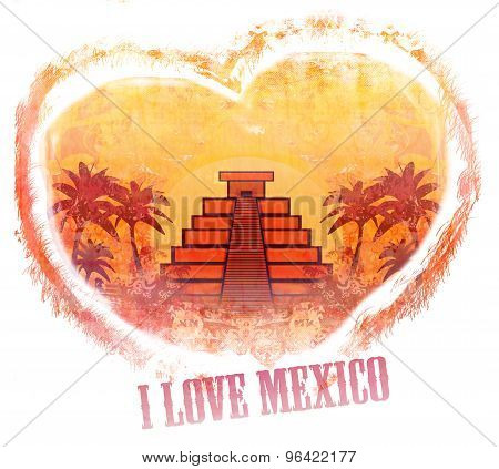 I Love Mexico Design