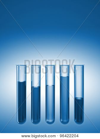 3d image of classic glass test tubes