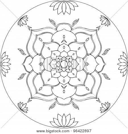 Lotus coloring mandala diksha