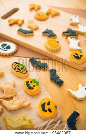 Different Halloween Cookies