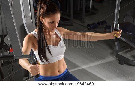 Sporty woman training in tjhe gym