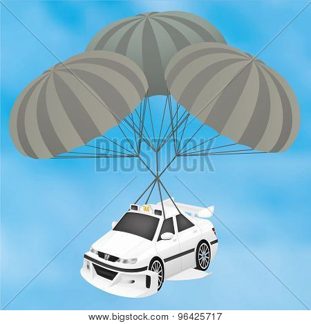 Sports Taxi Planning on a Parachute