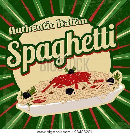 Spaghetti Retro Poster