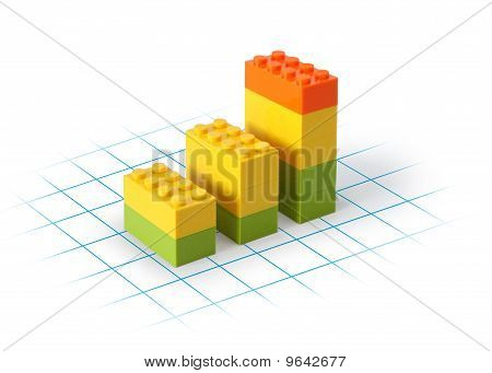 Business graph toy building blocks