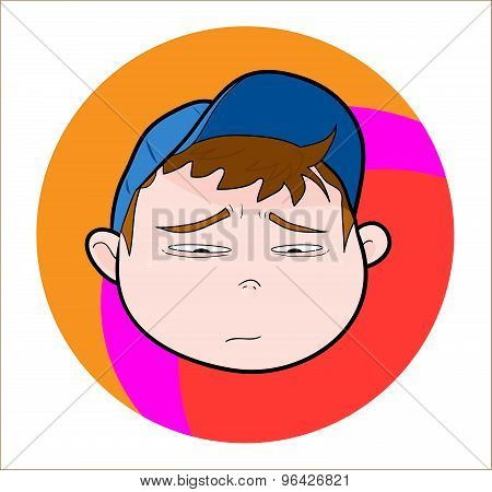 Boy With Cap (sad/crying expression).