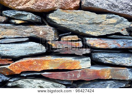 Stone laying. Background of construction material.