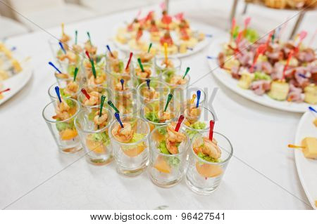 Food On Wedding Reception
