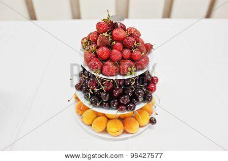 Fruits Pyramid On Wedding Reception