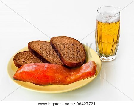 beer, fish and bread