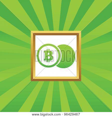Bitcoin coin picture icon