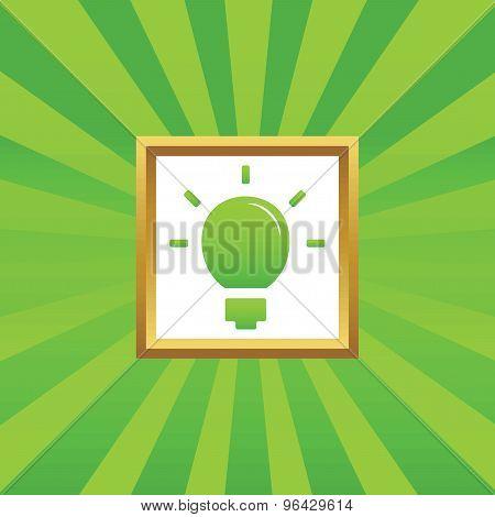 Light bulb picture icon