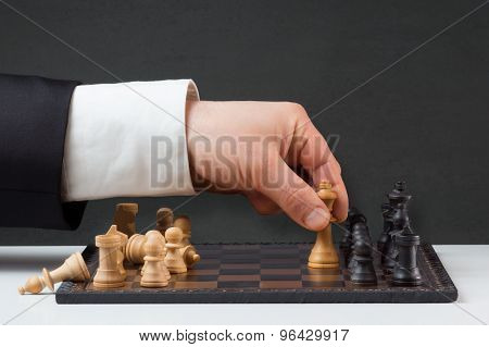 Businessman Playing Against The Rules