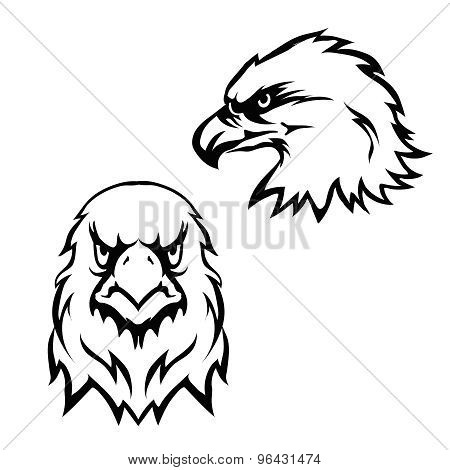 Eagles head logo emblem template set mascot symbol for business or shirt design. Vector  Design Elem