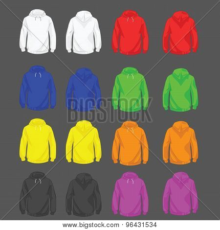 Set of men hoody