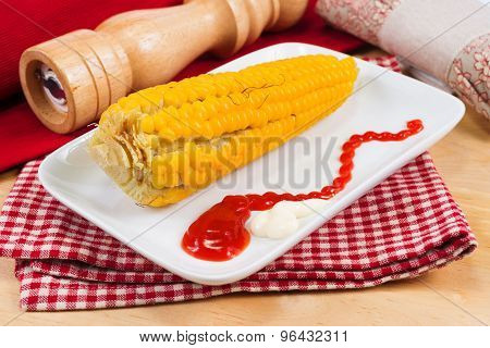 Corn Cob Boiled