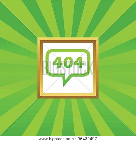 Error 404 message picture icon