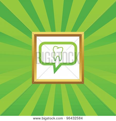 Tooth message picture icon