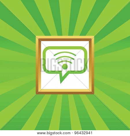 Wi-Fi message picture icon