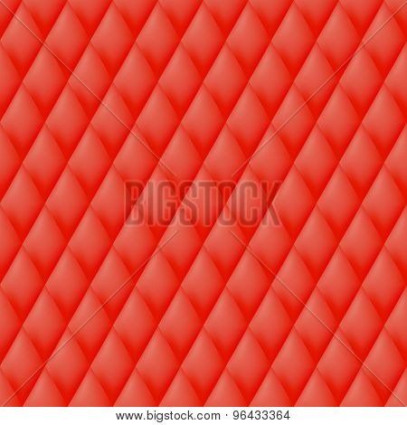 Quilted seamless pattern. Red color.