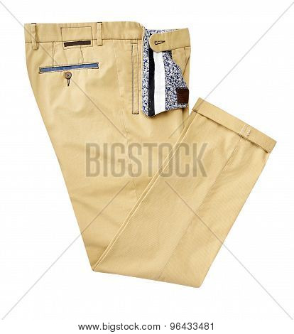 Pants For Men Isolated On A White Background With Clipping Path