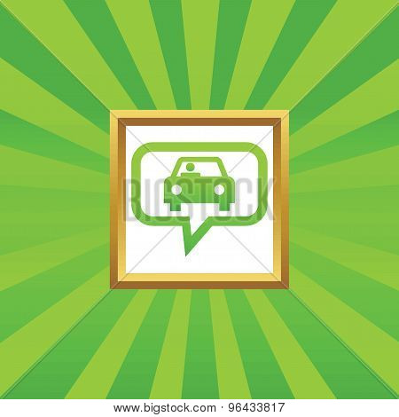 Car message picture icon