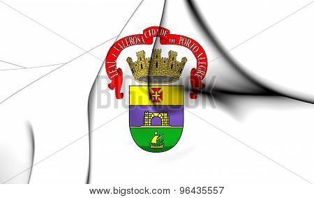 Flag Of Porto Alegre City, Brazil.