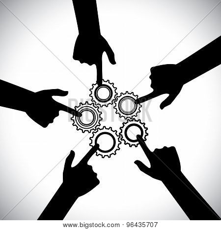 Concept Vector Graphic- Of Teamwork, Community Unity & Integrity