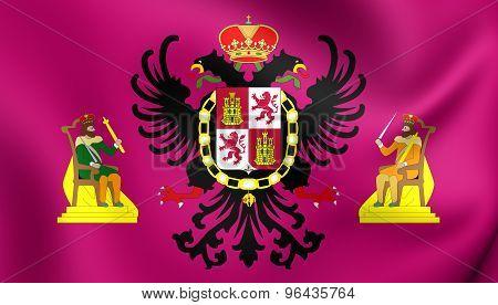 Flag Of Toledo City, Spain.