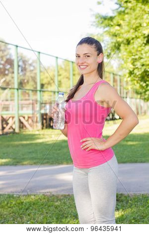 Fitness, Sporty ,healthy Lifestyle , Smiling Female Relaxing