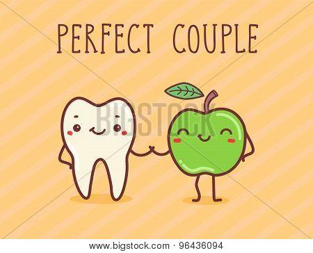 Vector Illustration - Perfect Couple.