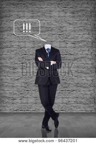 Headless businessman