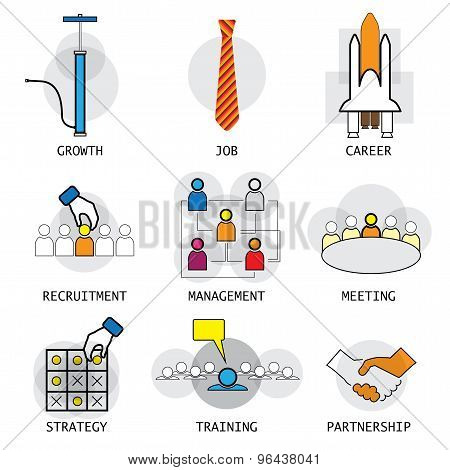 Line Vector Design Of Office People Career Selection Management