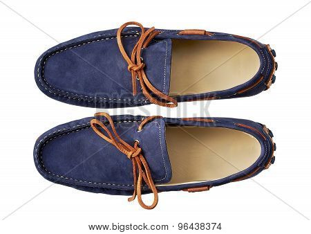 Mens Shoe Isolated On White With A Clipping Path