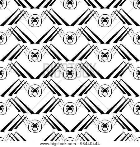 seamless pattern with spider