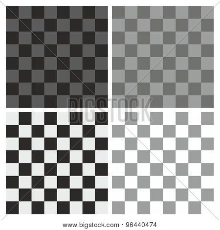 Tile grey, white and black plaid pattern vector set