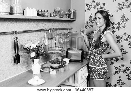 Attractive housewife