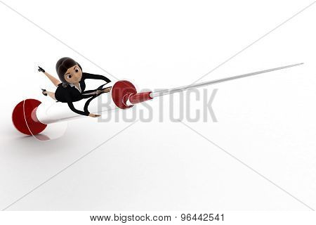 3D Woman Riding Injection Concept