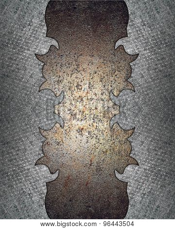 Template Torn Metal. Template For Design. Abstract Grunge Background.