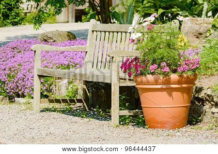 Bench And Flower Pot
