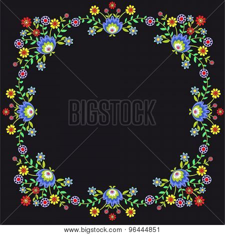 Folk pattern flowers-5
