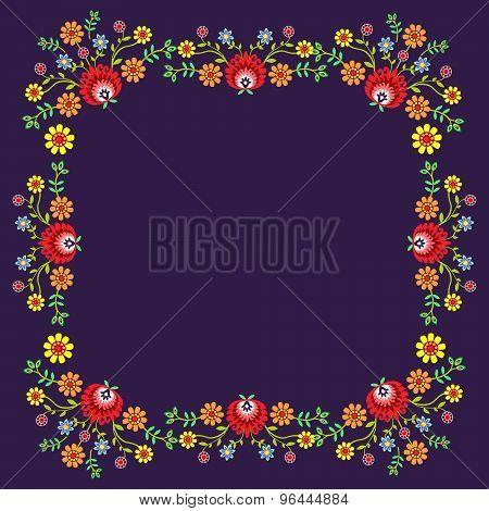 Folk pattern flowers-7