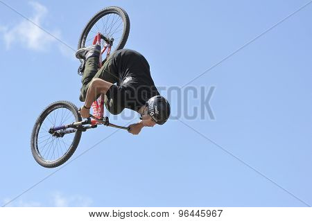 Flight of the professional mountain biker