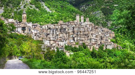 scenic medieval villages of Italy - Pacentro (Abruzzo)