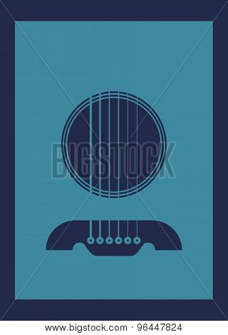 Poster Illustration Graphic Vector Gitarre