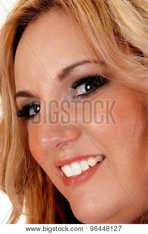Smiling Pretty Blond Woman.