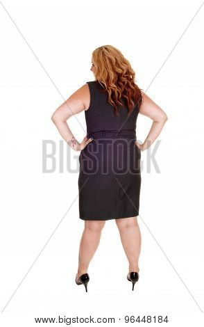Plus Size Woman From The Back.