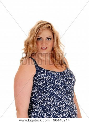Lovely Plus Size Blond Woman.