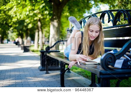 Beautiful Girl With A Book