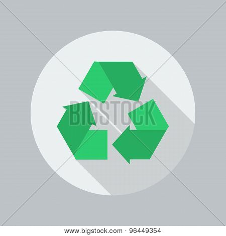 Eco Flat Icon. Recycle